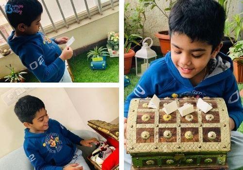 Lockdown activities for kids treasure hunt