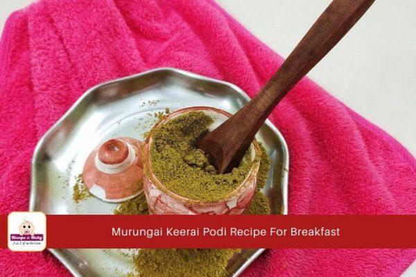 Murungai Keerai podi recipe, drumstick leaves powder, drumstick leaves podi