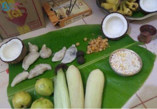 Ganesh Chaturthi Lunch menu neivedyam
