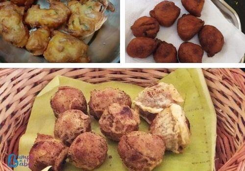 Ganesh Chaturthi Lunch menu vadas and bondas