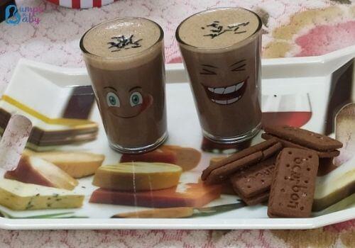 ragi chocolate milkshake