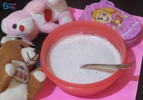 ragi milk shake for babies