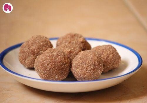 chocolate sago laddu diwali sweets recipe for kids