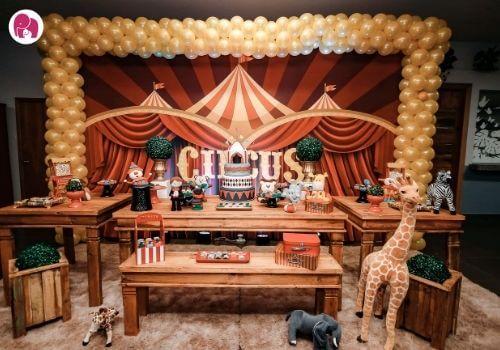 circus First Birthday Theme for Boys